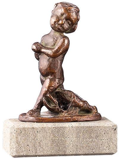 Elisabeth Ehrhardt: Zodiac sculpture 'Cancer', metal casting