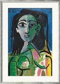 """Painting """"Buste de Femme (Jacqueline)"""" (1963), Framed"""