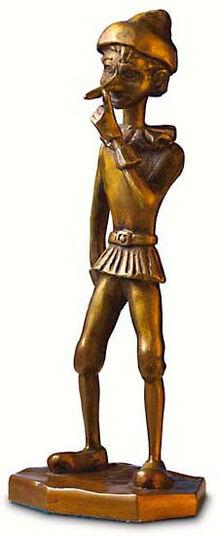 "RobiN: Sculpture ""Pinocchio"", (1999), bronze"