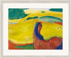 """Bild """"Pferd in der Landschaft"""" (1910), gerahmt"""