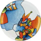 """Kuchenteller """"König der Clowns"""", Porzellan"""