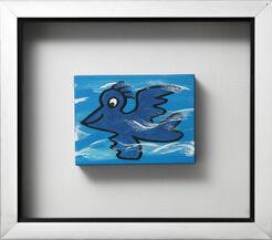 """Bild """"Bird, blau"""" (Unikat)"""