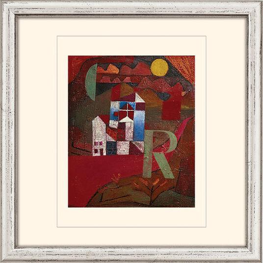 "Paul Klee: Bild ""Villa R."" (1919), gerahmt"