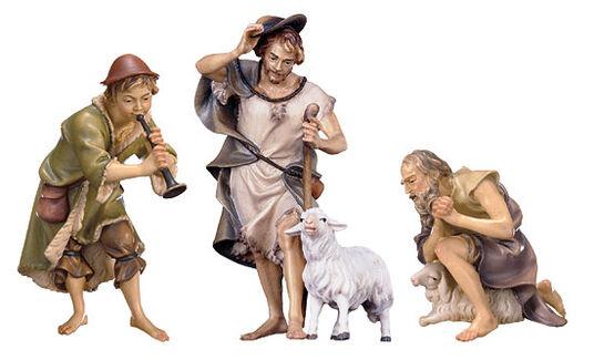 Nativity figurines 'Three Shepherds', hand-painted