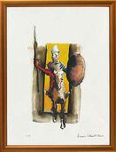 """Bild """"Don Quijote, Ritter ohne Furcht und Tadel"""", gerahmt"""
