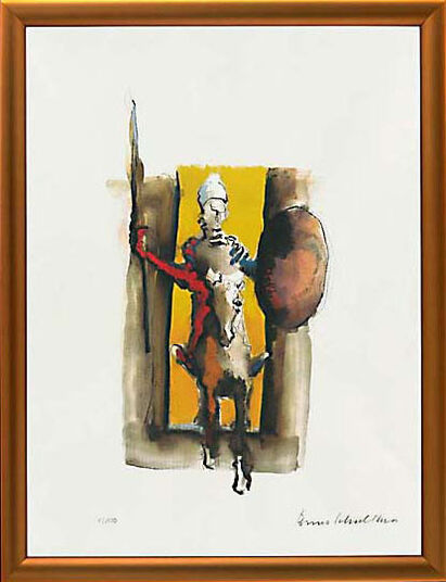 "Benno Schulthess: Picture ""Don Quixote, A Knight without Fear And Blame"""