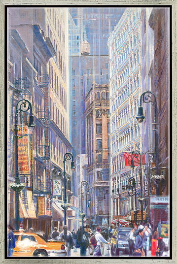 """Namazbek Chekirov: Bild """"New York City"""", gerahmt"""