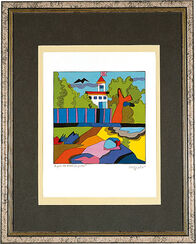 "Picture ""A House for Fun and Game"", framed"