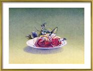 """Bild """"Rosenteller"""", gerahmt"""