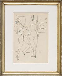 """Bild """"Zwei tanzende weibliche Akte im Atelier"""" (1929-1938) (Unikat)"""