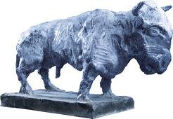 "Skulptur ""Taurus, blau"" (2012), Bronze"