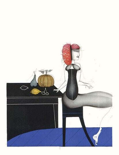 """Paul Wunderlich: Picture  """"Bon Appetit"""""""