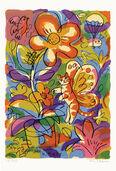 """Bild """"Spring Garden with Kittifly"""" (2002), ungerahmt"""
