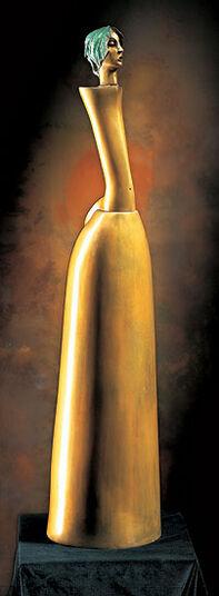 """Paul Wunderlich: Skulptur """"Die schöne Gärtnerin"""", Bronze"""