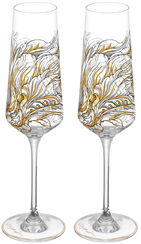 "2 Piece Set Champagne Glasses ""My Charming Garden"""