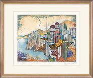 """Bild """"Toskanische Landschaft"""" (2004), gerahmt"""