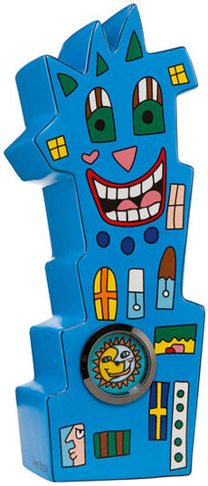 "James Rizzi: Tischuhr ""Watch Tower"", Porzellan"