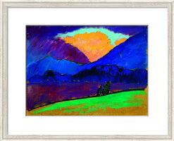 "Bild ""Sommerabend in Murnau"" (1908-09), gerahmt"