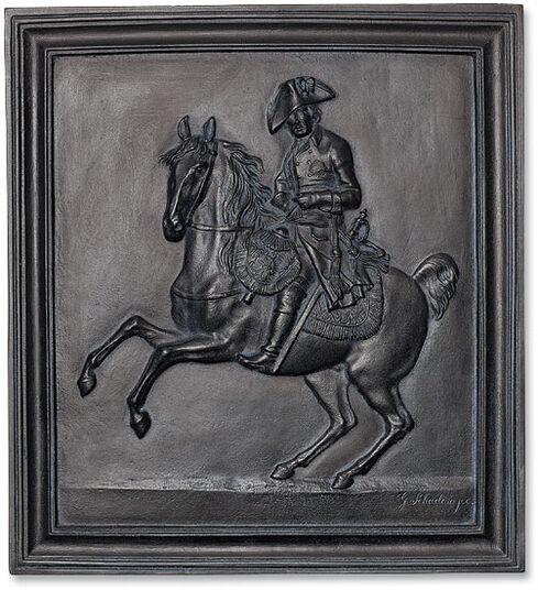 "Johann Gottfried Schadow: Wandrelief ""Friedrich der Große zu Pferd"" (1807)"