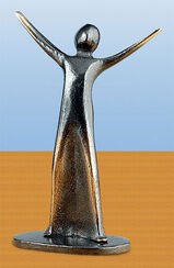 """Skulptur """"Freude"""", Bronze"""