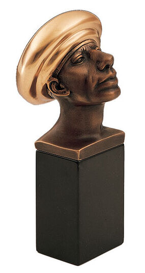 "Rudolf Hausner: Sculpture ""Adam Well Covered"", bronze on marble base"