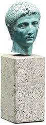 "Portrait Head ""Augustus"", Artificial Casting"