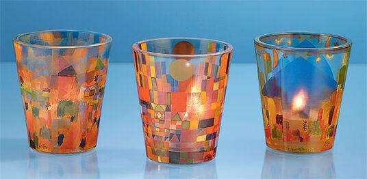 Paul Klee: Drei Windlichter mit Künstlermotiven im Set