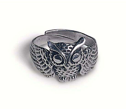 Owl Ring, 925 sterling silver