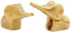 Miniature set 'Elephant Parents', bronze