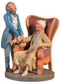 "Caricature ""The family doctor"", art casting, handpainted"