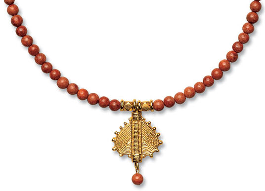 "Petra Waszak: Coral necklace ""Heart of Nubia"""