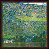 "Painting ""Litzlberg on Attersee"" (1915), Framed"