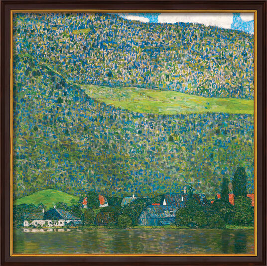 "Gustav Klimt: Painting ""Litzlberg on Attersee"" (1915), Framed"