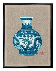 """Bild """"Vase"""", gerahmt"""