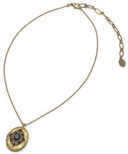 "Michal Golan: Necklace ""Florentine Indigo"" (with photo locket)"