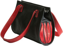 "Hand bag ""Black and Red Tulip"""