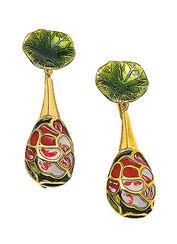 "Earrings ""Rose"" - after Louis C. Tiffany"