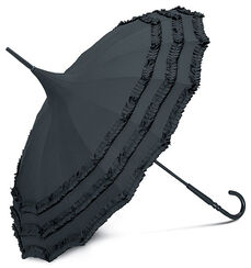 "Walking-Stick Umbrella ""Moulin Rouge"", black"