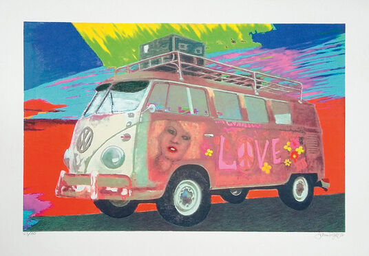 "James Francis Gill: Bild ""Hippie-Bus"" (2015)"