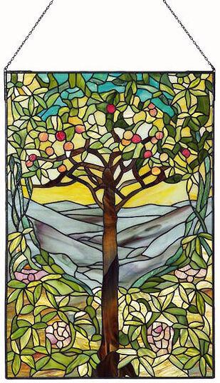 """Louis C. Tiffany: Fensterbild """"Der Baum des Lebens"""", 1903"""
