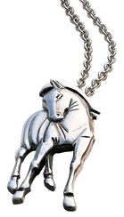 "pendant ""Hommage à Franz Marc"" with chain, 925 sterling silver"