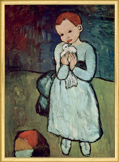 "Pablo Picasso: Painting ""Girl with Dove"" (1901)"