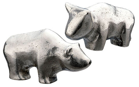 Kerstin Stark: Miniatures 'Bull and Bear' in gift box
