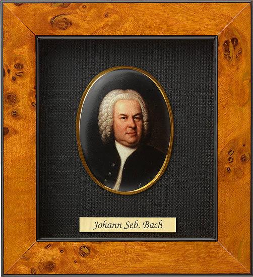 Miniature portrait of Johann Sebastian Bach (1685-1750), Porcelain