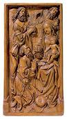 """Relief """"Anbetung der Könige"""", Kunstguss"""