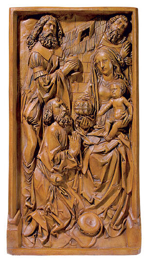 "Tilman Riemenschneider: Relief ""Adoration of the Magi"", Arificial Casting"