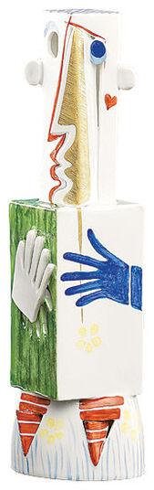 "Peter Strang: Sculpture ""Mask Man"", Porcelain"