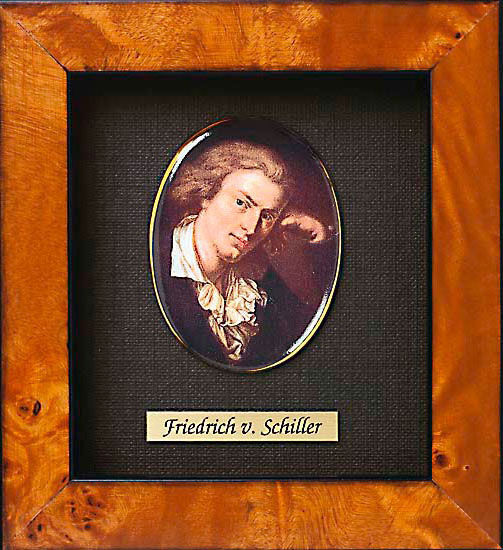 Miniature portrait of Friedrich Schiller (1759-1805)
