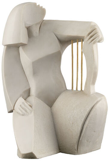 "Valeri Generosow: Skulptur ""Harfenspielerin"", Steinguss"