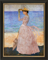"""Bild """"Frau mit Sonnenschirm"""" (1895), gerahmt"""